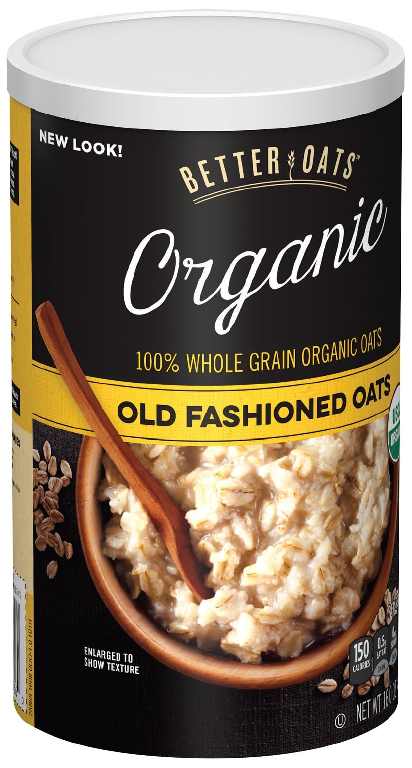 Better Oats Organic Raw Pure & Simple Old Fashioned Oats (12x16 OZ)
