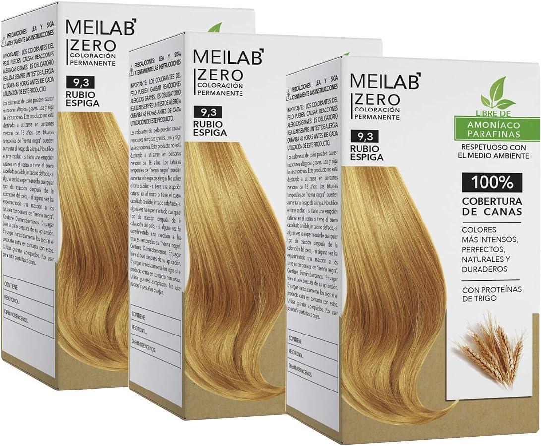 MEILAB - Tinte permanente sin amoniaco - Pack de 3 unidades ...