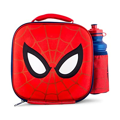 Marvel Spider-man 3d Lunch Bag And 500ml Bottle Set With 2-piece Snack Box: Baby
