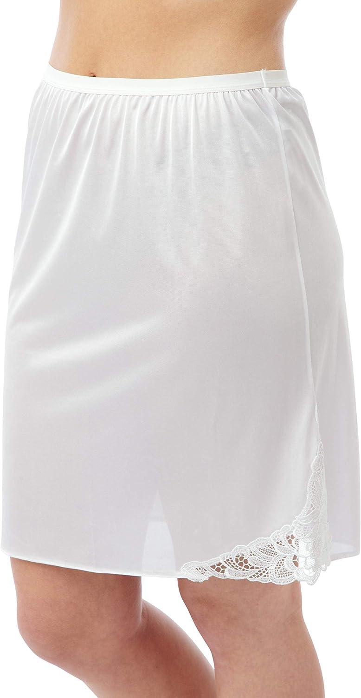 Store Ladies 20 Cling Resist Half Slip//Underskirt with Guipure Motif Ex