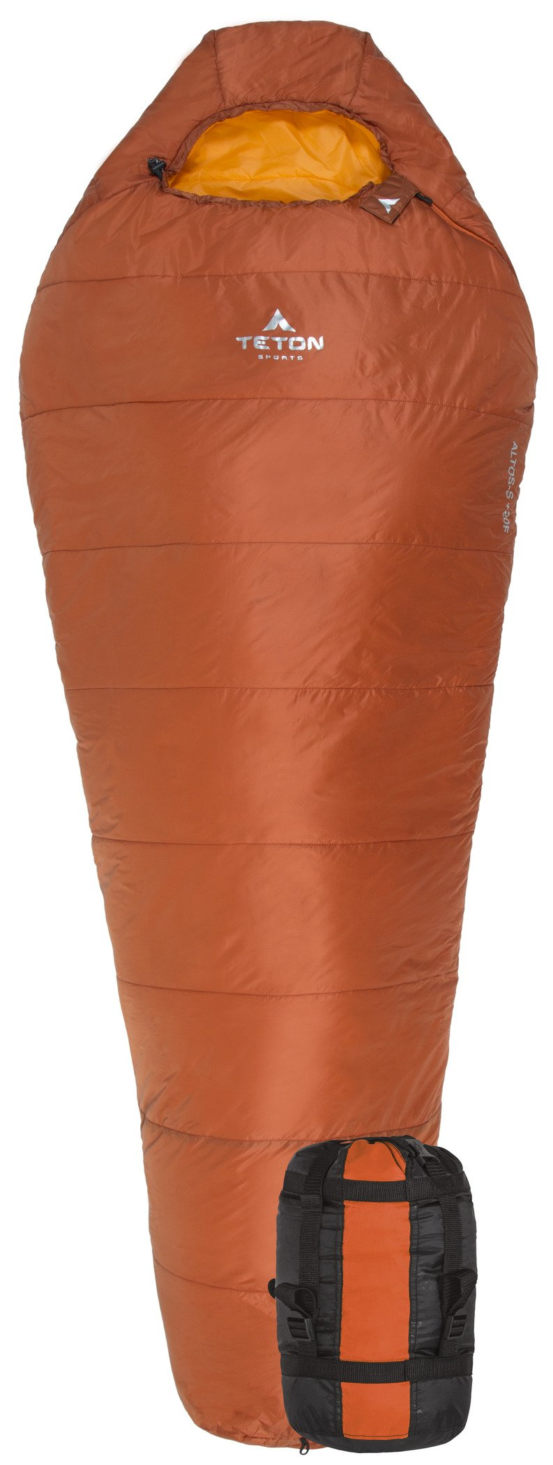 Teton Sports Altos Ultralight Mummy Sleeping Bag Perfect for Camping, Hiking, and Backpacking; Lightweight All-Season Mummy Bag; Compression Sack Included 3