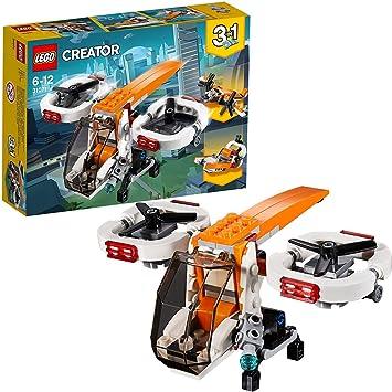LEGO Creator - Dron de Exploración, Juguete de Construcción 3 en 1 con Piezas de Colores para Niños y Niñas de 6 a 12 Años con Diferentes Detalles ...
