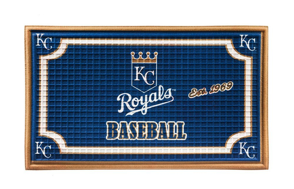 Team Sports America Kansas City Royals Embossed Floor Mat, 18 x 30 inches