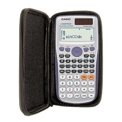 Schutztasche für Casio Schulrechner Taschenrechner Kunstleder schwarz
