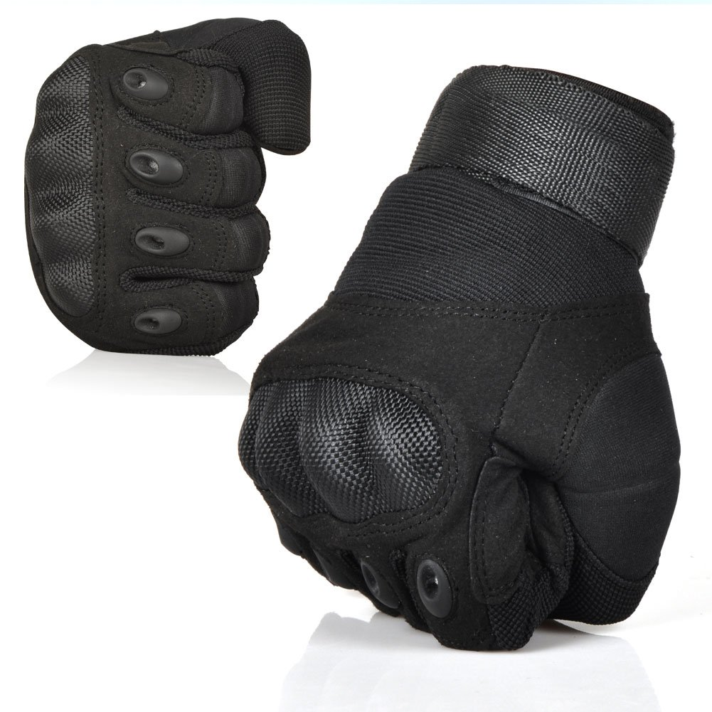 Black tactical gloves - Amazon Com Etrance Ventilate Wear Resistant Military Equipment Half Finger Fingerless And Full Finger Tactical Gloves Hard Knuckle And Foam Protection For
