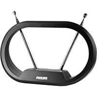 Philips Modern Loop Rabbit Ears Indoor TV Antenna, 15 inch Extendable Dipoles, 4K 1080P VHF UHF, Tabletop Antenna…