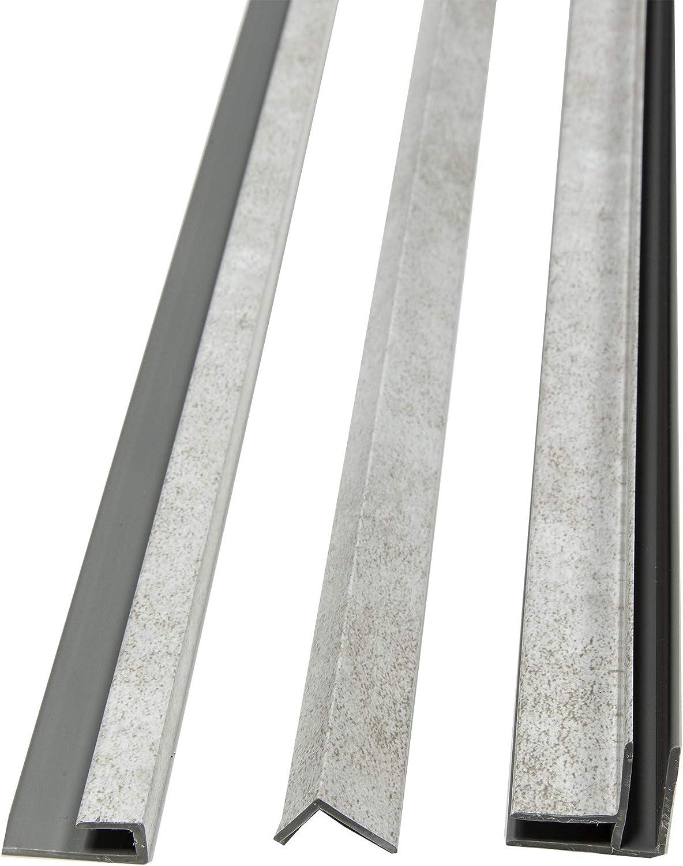 Dark Gray Slate Trim Kit DumaWall 94 in