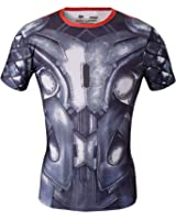 Red Plume Men's Compression Sports Fitness Shirt, Movie Hero Raytheon T-shirt