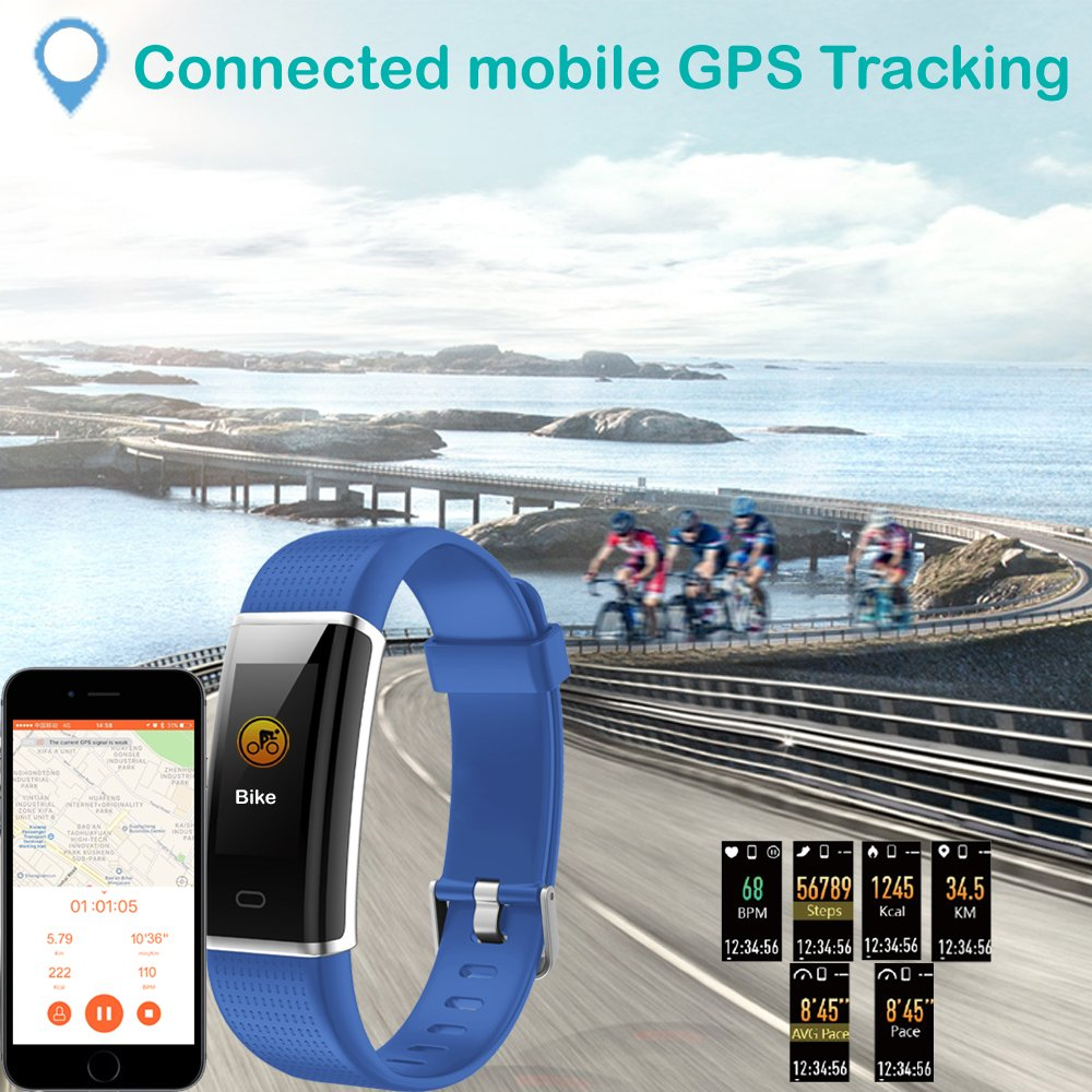 Willful Fitness Tracker, Heart Rate Monitor Fitness Watch Activity Tracker(14 Modes) Pedometer with Step Counter Sleep Monitor Call SMS SNS Notice for Women Men Kids (Color Screen,IP68 Waterproof) by Willful (Image #9)