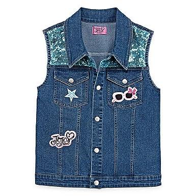 9d011d2541 Amazon.com: Girls JoJo Siwa Fashion Denim Vest: Clothing