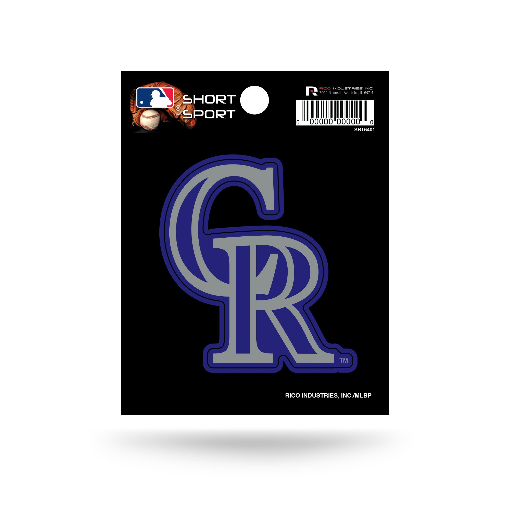 MLB Colorado Rockies Short Sport Decal by Rico Industries (Image #1)