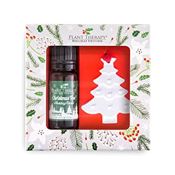 plant therapy christmas tree holiday blend essential oil 10 ml 100 pure undiluted - Christmas Essential Oils