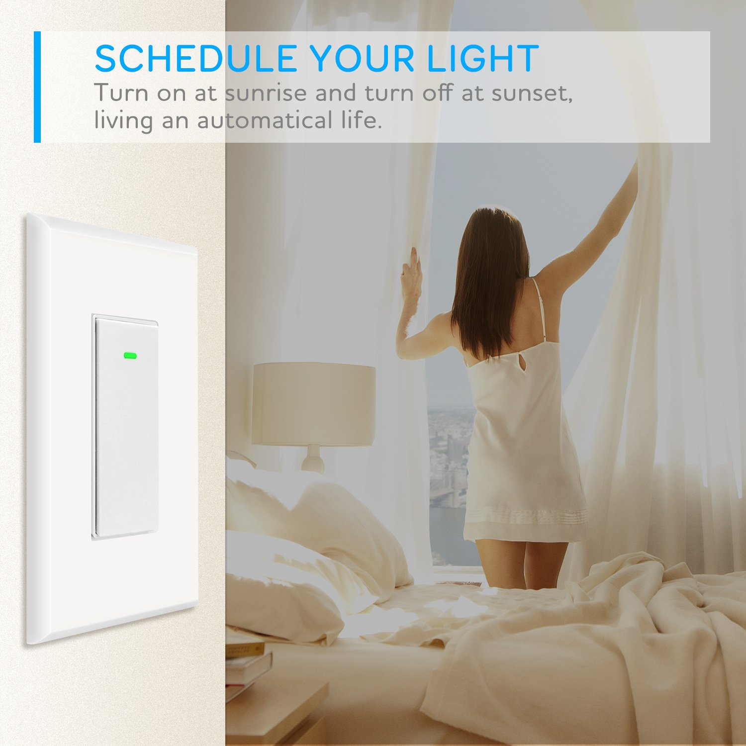 Maxcio Smart Wi-Fi Light Switch, No Hub Required, Compatible with ...