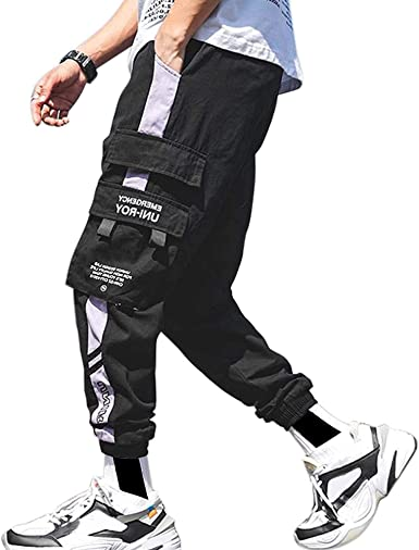 Amazon Com Xyxiongmao Streetwear Hip Hop Pantalones Cargo Pantalones Joggers Para Hombres Pareja Mujeres Deportes Casual Active Pantalones De Chandal Clothing