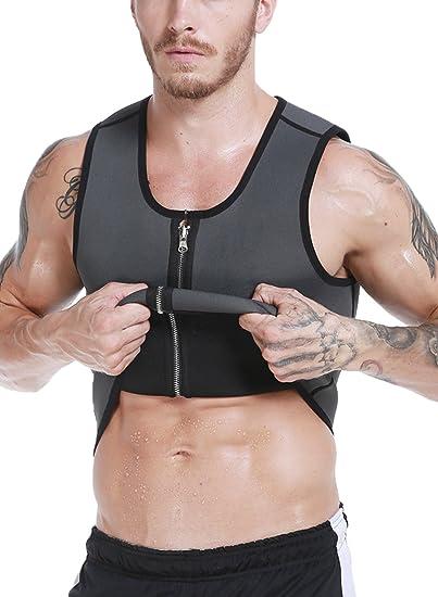 e82a2ca0ad Mens Neoprene Sweat Vest Sauna Slimming Top Hot Body Shaper Waist Trainer  Belt For Weight Loss