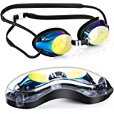 Portzon Swim Goggles, Swimming Goggles for Adult Men Women Youth Kids Child, Silicone Nose Bridge, Clear Vision, Easy…
