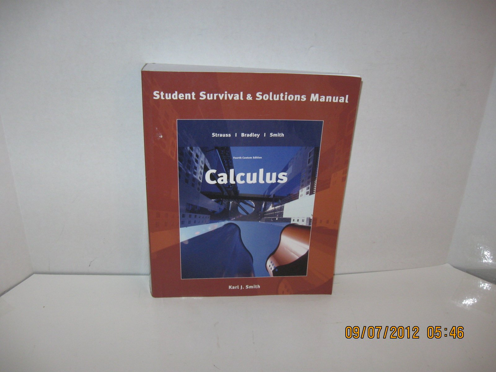 Calculus [Two Books]:Calculus, Student Survival & Solutions Manual and  Calculus, Student Mathematics Handbook and Integral Table: Karl J. Smith:  Amazon.com: ...