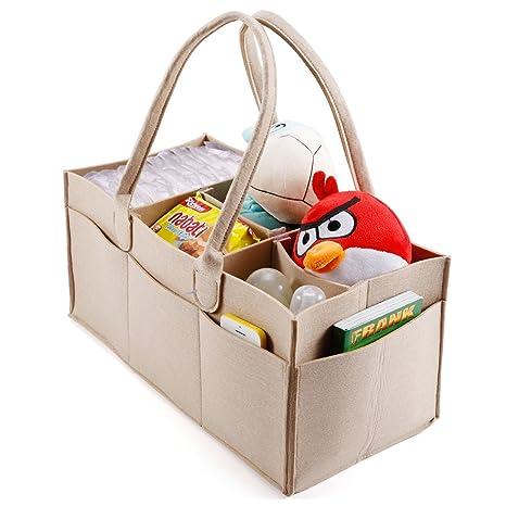 5 compartimentos Organizador de pañales bebé pañales bolsa de basura de almacenamiento Caddy, guardería Bebé