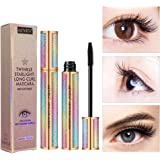 Silk Fiber Lash Mascara for Longer, Thicker, Voluminous Eyelashes,Natural Waterproof Smudge-Proof, All Day Exquisitely Long,