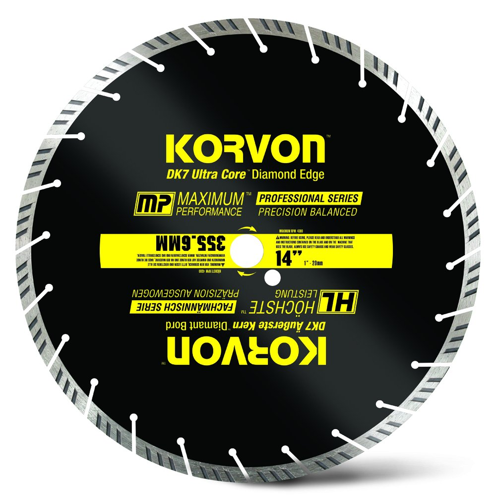 Korvon™ DK7 Ultra Core™ Professional 14'' Diamond Blade