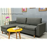 Amazon.com deals on Sectional Sofa, L-Shape Sectional Couch w/Reversible Chaise
