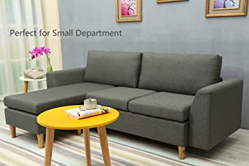 Pleasant Sectional Sofa L Shape Sectional Couch With Reversible Interior Design Ideas Clesiryabchikinfo