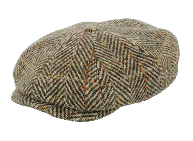 61abc288224 Stetson Hatteras Herringbone Bakerboy Cap (6840502)  Amazon.co.uk ...