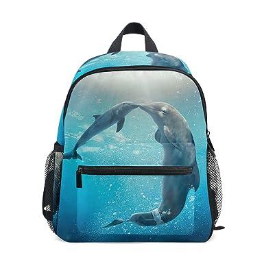 1fb295f37ca6 Amazon.com   GIOVANIOR Kiss Dolphin Tale Travel School Backpack for ...