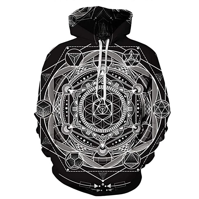 TU Impresión psicodélica esotérica Unisex Sudaderas con Capucha Divertidas 3D Sudaderas Streetwear Suéteres: Amazon.es: Ropa y accesorios