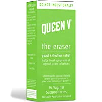 Queen V The Eraser Yeast Infection Treatment | 14 Vaginal Suppositories | Reusable...