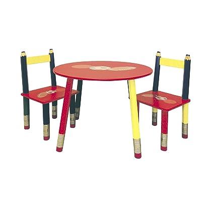 Attirant Ore International Kids Pencil 3 Pc. Table Set