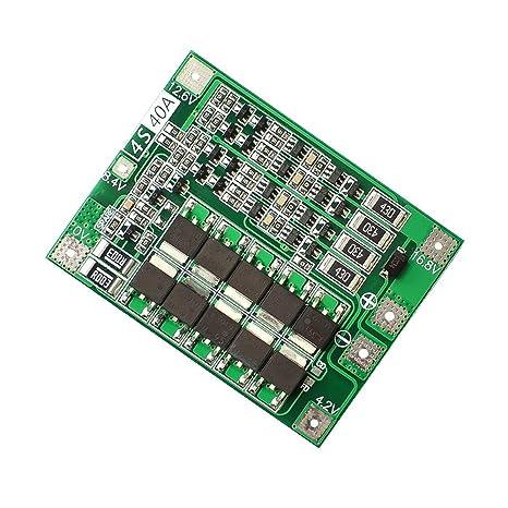 ROUHO 4S 40A Li-Ion Batería De Litio 18650 Cargador PCB BMS ...