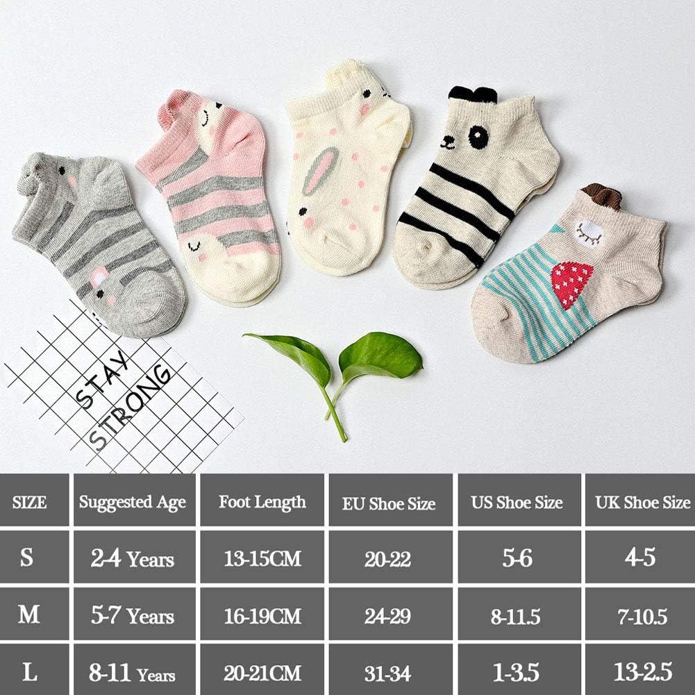 5 pares LOFIR Calcetines Divertidos de Algod/ón para Ni/ñas Calcetines con Dibujos de Animal Perro Gato Tama/ño 20-34 Calcetines Novedad para Ni/ños de 2 a 11 A/ños Calcetines Vistosos