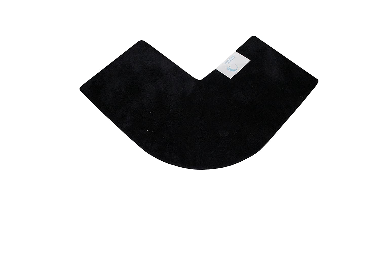 Cazsplash Luxury Quadrant Crema 47 x 44 x 6.5 cm Alfombrilla de Ducha esquinera algod/ón