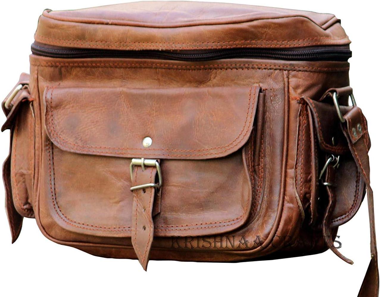 Amazon Com Vpl Handmade Leather Vintage Camera Bag For Men Electronics