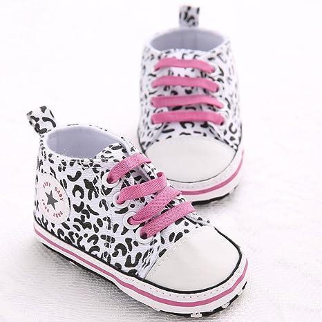 etrack-online bebé de piel de leopardo inferior para cuna zapatillas deportivas 3 colores 3sizes
