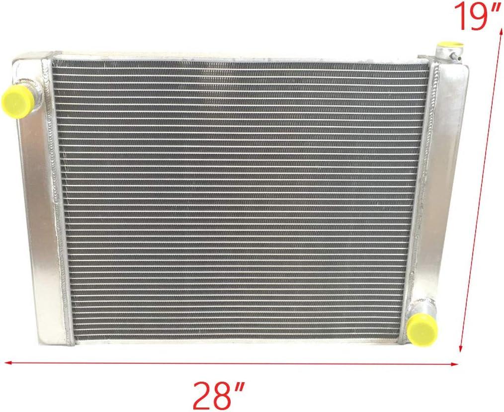 "Universal 2Row 1/"" tube of Core Aluminum Radiator 28/""x19/"" For Ford//Chrysler-Style"