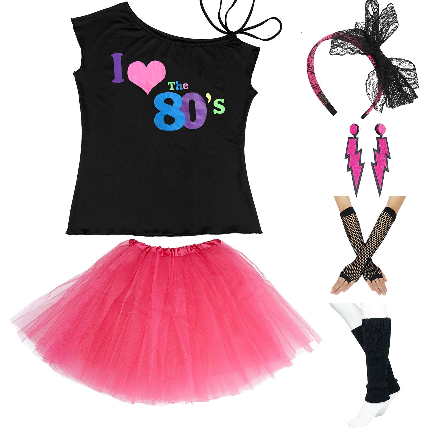 Tutu Skirt Leg Warmers Gloves Earrings To Assure Years Of Trouble-Free Service Active 80s Womens Girls Fancy Dress Costume Costumes