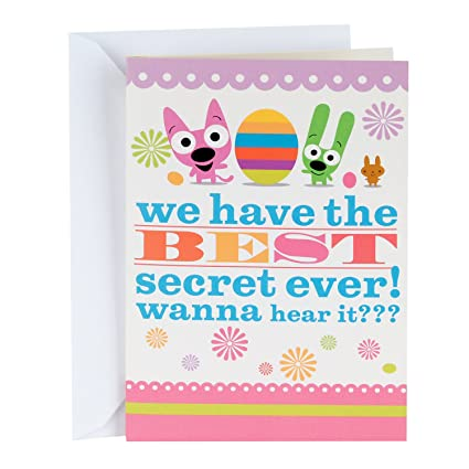 Amazon hallmark funny easter greeting card with sound for kids hallmark funny easter greeting card with sound for kids hoops and yoyo best secret ever m4hsunfo