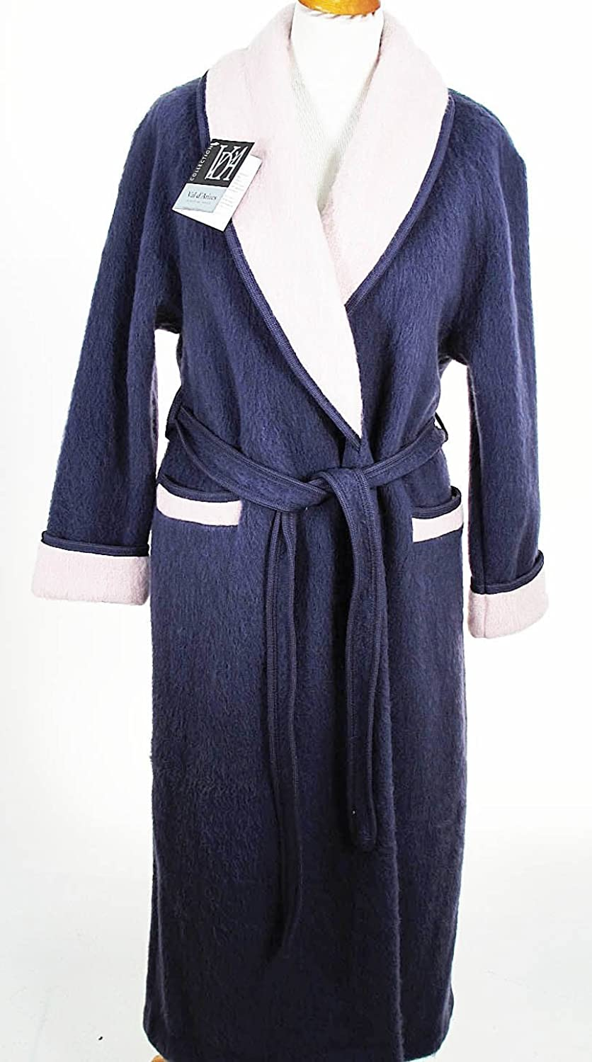 Val d'Arizes Laine des Pyr茅n茅es - Wool robe crossed the Pyrenees contrasting collar plum dragee - 42