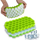 Ice Cube Trays with Lids, 2 Pack Home-Mart 74 Ice Cubes Food Grade Silica Gel Flexible with Spill-Resistant Removable…