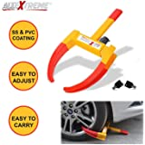 AllExtreme Heavy Duty Anti Theft Wheel Lock Clamp Anti-Theft Towing Parking Boot Tire Claw Adjustable for Auto Car Truck with Two Keys