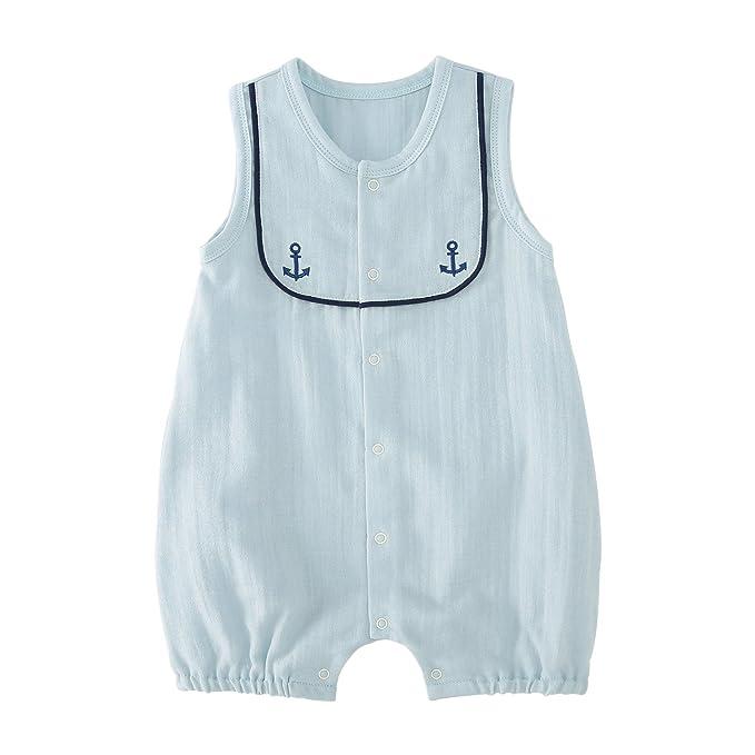 f5cb2d9f7 Amazon.com  pureborn Baby Boys Girls Sleeveless Muslin Cotton ...