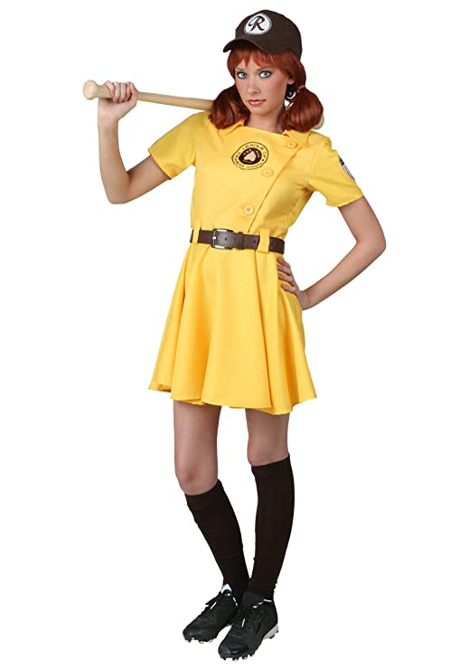 1940s Costumes- WW2, Nurse, Pinup, Rosie the Riveter Womens A League of Their Own Kit Costume $54.99 AT vintagedancer.com