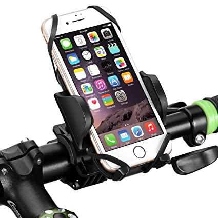 sale retailer 43b24 e36fa Mpow Bike Mount Bike Holder, Universal Bike Phone Mount with 360 Degrees  Rotatable, Rubber Strap, Slide-Proof Clamp, One-button Released Motorcycle  ...