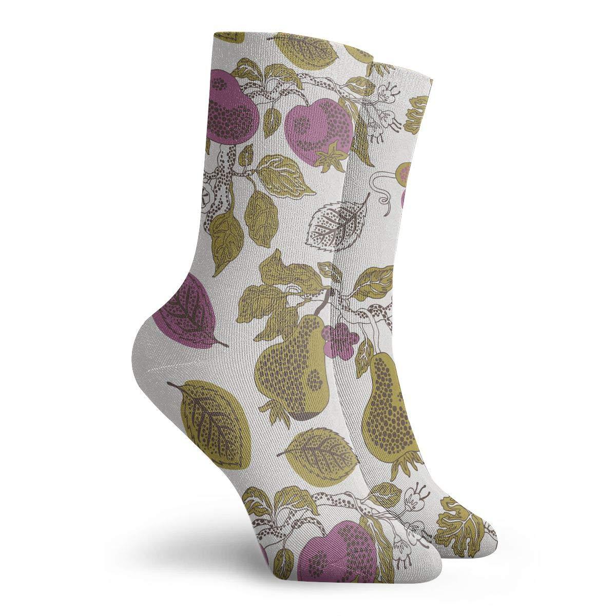 YIEOFH Children Vegetables and Fruit Novelty Boys Girls Fashion Cute Funny Casual Art Crew Socks