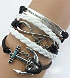 ACUNION™ Handmade Horses Owl Cross Heart Birds Healing Dragon Dog Believe Heart Dragonfly Sister Charm Friendship Gift Leather Bracelet