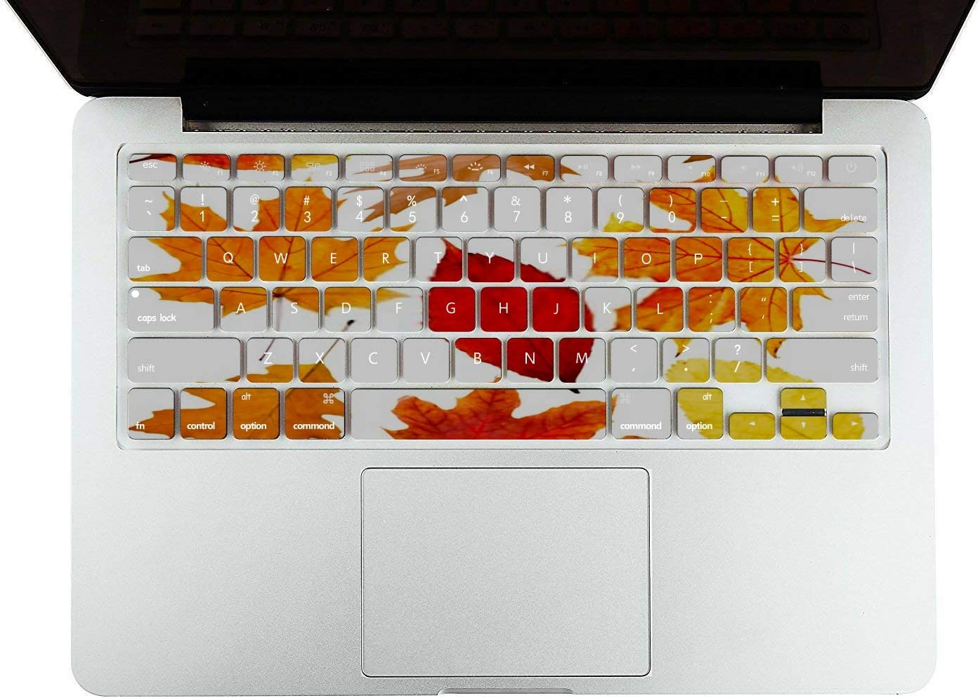 MacBook Pro Case Collection Autumn Leaves On White Background MacBook Retina 12 A1534 Plastic Case Keyboard Cover /& Screen Protector /& Keyboard Clea