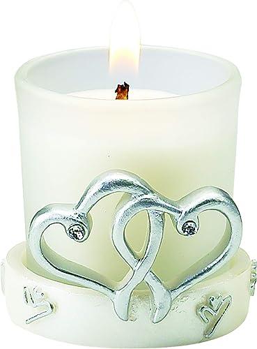 FASHIONCRAFT 3939 Interlocking Silver Heart Design Candle Holder