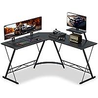 """Numenn L Shaped Desk Gaming L Shaped Desk, 51"""" L Shape Corner Computer Desk, Gaming Desk Table with Large Monitor Riser…"""